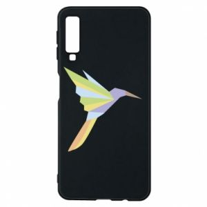 Phone case for Samsung A7 2018 Bird flying abstraction - PrintSalon