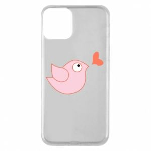 Phone case for iPhone 11 Bird is catching up with the heart - PrintSalon