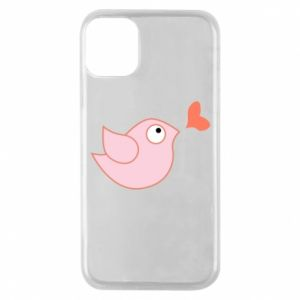 Phone case for iPhone 11 Pro Bird is catching up with the heart - PrintSalon