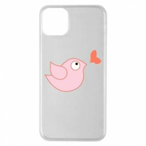 Phone case for iPhone 11 Pro Max Bird is catching up with the heart - PrintSalon