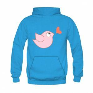 Bluza z kapturem dziecięca Bird is catching up with the heart