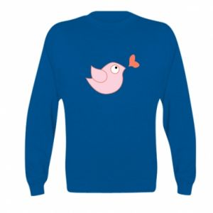 Bluza dziecięca Bird is catching up with the heart
