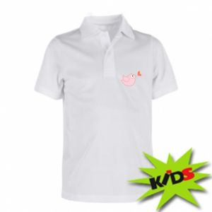 Children's Polo shirts Bird is catching up with the heart - PrintSalon