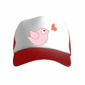 Czapka trucker dziecięca Bird is catching up with the heart