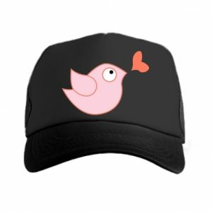 Trucker hat Bird is catching up with the heart - PrintSalon