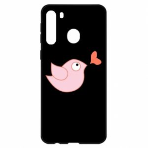 Etui na Samsung A21 Bird is catching up with the heart