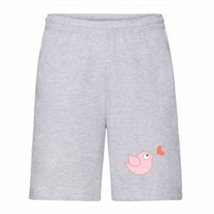 Men's shorts Bird is catching up with the heart - PrintSalon