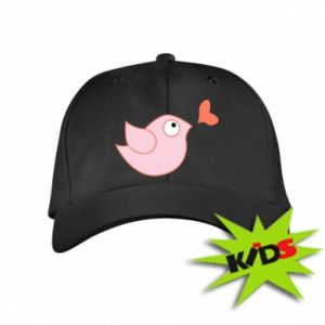 Kids' cap Bird is catching up with the heart - PrintSalon