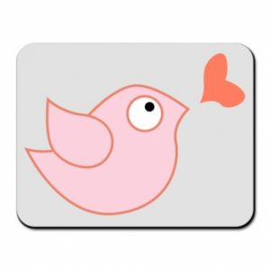 Mouse pad Bird is catching up with the heart - PrintSalon