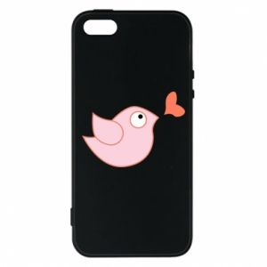 Phone case for iPhone 5/5S/SE Bird is catching up with the heart - PrintSalon