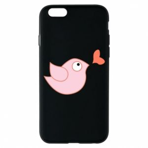 Phone case for iPhone 6/6S Bird is catching up with the heart - PrintSalon