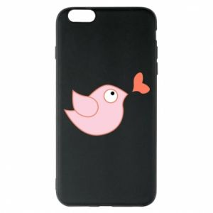 Phone case for iPhone 6 Plus/6S Plus Bird is catching up with the heart - PrintSalon