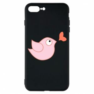 Phone case for iPhone 7 Plus Bird is catching up with the heart - PrintSalon