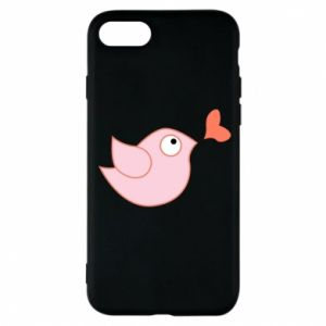 Phone case for iPhone 8 Bird is catching up with the heart - PrintSalon