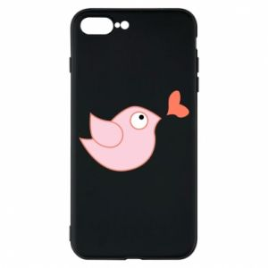 Phone case for iPhone 8 Plus Bird is catching up with the heart - PrintSalon