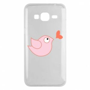 Phone case for Samsung J3 2016 Bird is catching up with the heart - PrintSalon