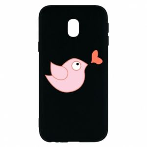 Phone case for Samsung J3 2017 Bird is catching up with the heart - PrintSalon