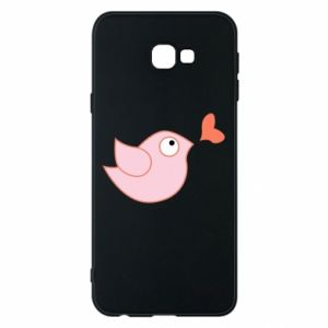 Phone case for Samsung J4 Plus 2018 Bird is catching up with the heart - PrintSalon