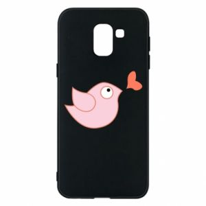 Phone case for Samsung J6 Bird is catching up with the heart - PrintSalon