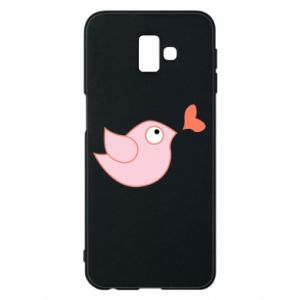 Phone case for Samsung J6 Plus 2018 Bird is catching up with the heart - PrintSalon