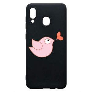 Phone case for Samsung A20 Bird is catching up with the heart - PrintSalon