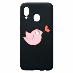 Phone case for Samsung A40 Bird is catching up with the heart - PrintSalon