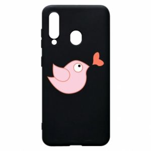 Phone case for Samsung A60 Bird is catching up with the heart - PrintSalon