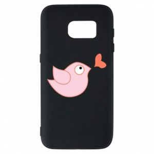 Phone case for Samsung S7 Bird is catching up with the heart - PrintSalon