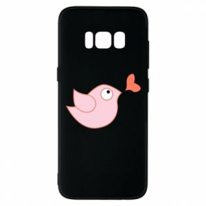 Phone case for Samsung S8 Bird is catching up with the heart - PrintSalon