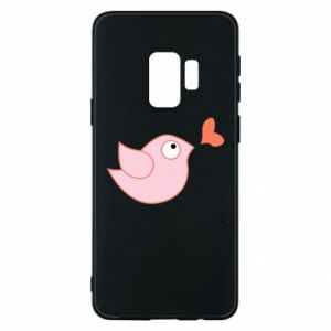 Phone case for Samsung S9 Bird is catching up with the heart - PrintSalon
