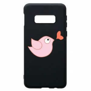 Phone case for Samsung S10e Bird is catching up with the heart - PrintSalon