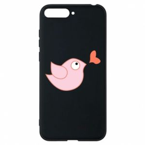 Phone case for Huawei Y6 2018 Bird is catching up with the heart - PrintSalon