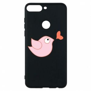Phone case for Huawei Y7 Prime 2018 Bird is catching up with the heart - PrintSalon
