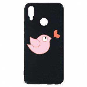 Phone case for Huawei P Smart Plus Bird is catching up with the heart - PrintSalon