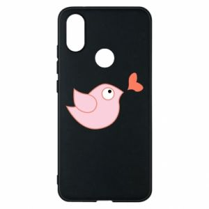 Phone case for Xiaomi Mi A2 Bird is catching up with the heart - PrintSalon
