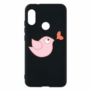 Phone case for Mi A2 Lite Bird is catching up with the heart - PrintSalon