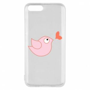 Phone case for Xiaomi Mi6 Bird is catching up with the heart - PrintSalon