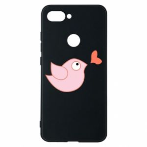 Phone case for Xiaomi Mi8 Lite Bird is catching up with the heart - PrintSalon
