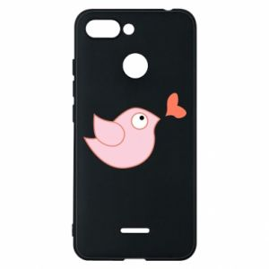 Phone case for Xiaomi Redmi 6 Bird is catching up with the heart - PrintSalon