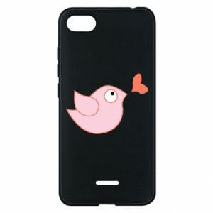 Phone case for Xiaomi Redmi 6A Bird is catching up with the heart - PrintSalon