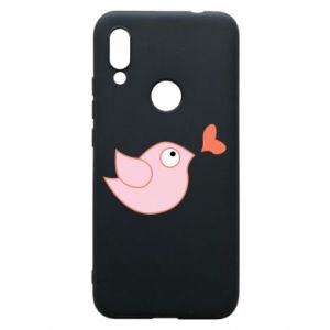 Phone case for Xiaomi Redmi 7 Bird is catching up with the heart - PrintSalon
