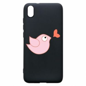 Phone case for Xiaomi Redmi 7A Bird is catching up with the heart - PrintSalon