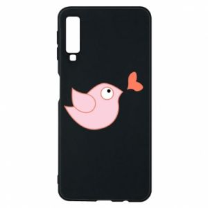 Phone case for Samsung A7 2018 Bird is catching up with the heart - PrintSalon