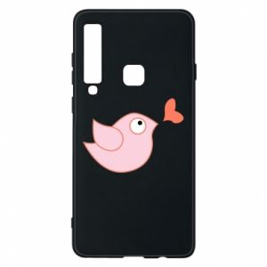 Phone case for Samsung A9 2018 Bird is catching up with the heart - PrintSalon