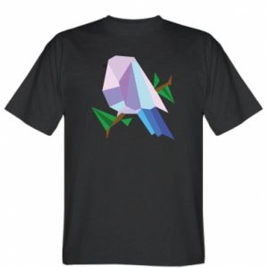 T-shirt Bird on a branch abstraction - PrintSalon