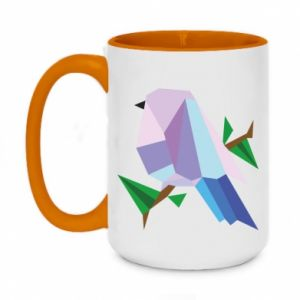 Kubek dwukolorowy 450ml Bird on a branch abstraction