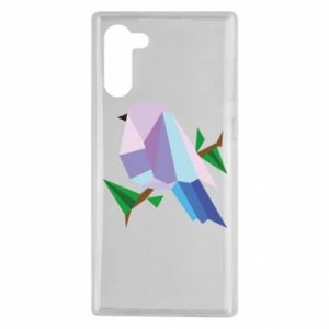 Etui na Samsung Note 10 Bird on a branch abstraction