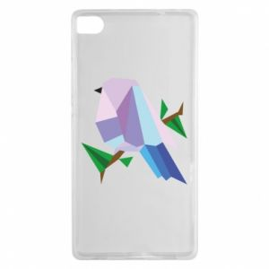 Etui na Huawei P8 Bird on a branch abstraction