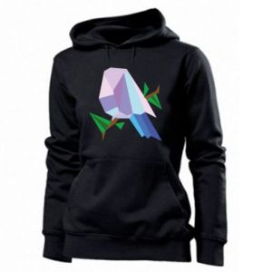 Women's hoodies Bird on a branch abstraction