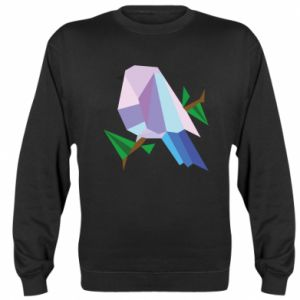 Sweatshirt Bird on a branch abstraction - PrintSalon